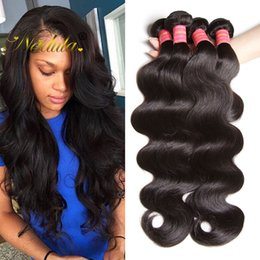 Nadula Brazilian Virgin Hair 3 Bundles Body Wave Human Hair Extensions Brazilian Human Hair Bundles Remy Human Weave Wholesale Cheap Bulk