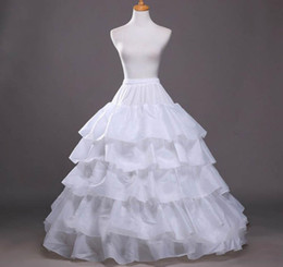 2019 Free Shiping Hot Sale Underskirt Ball Gown White 5 Hoop Ruffles Petticoats Crinoline Slip Wedding Accessories China