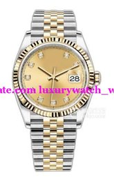 Luxury Watches 2018 New 36mm 126233 Two-tone Champagne Diamond Automatic Fashion Brand Men's Watch Wristwatch