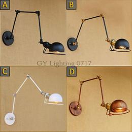 Industrial Vintage Wall Lamps white black hat cap metal iron lampshade sconces art deco luminaire applique murale wandlamp luz