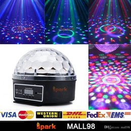 Voice control 12 RGB LED lights flash stage, KTV disco party DJ strobe lighting effects projector bulbs, strobe mood lighting (Black)