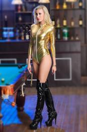 Women Summer Fashion Sexy Shapers Underwear Patent Leather Leotard Locomotive Bodysuit Jumpsuit Sleepwear Size S-3XL
