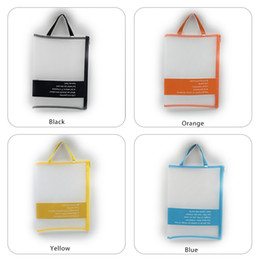 Mesh Zipper Bag Zipper HandBags A4 Clear Storage Pouch Document Folder Storage Bags Travel Document Organizers, Colour Random