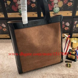 new genuine leather women hand bags famous designer lady shoulder bag women suede leather tote bag 519335