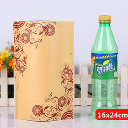 16x24cm printing stand kraft paper laminating aluminum foil ziplock packaging bags mylar food tea baking reusable heat sealing package pouch