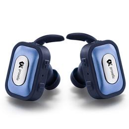 Mini True Wireless Bluetooth Stereo Earbuds TWS Bluetooth Earphones In Ear Headphones, Handsfree Calling Noise Cancelling Headset - Blue