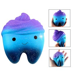 12CM Colorful Reduce Pressure Toys Jumbo Moon Star tooth Squishy Squeeze Slow Rising Phone Strap Pendant Kid Toys Gift