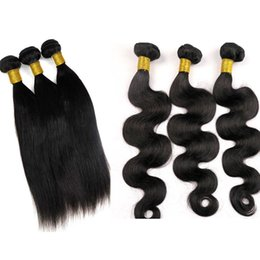 Virgin Human Hair Weaves Brazilian Hair Bundles Straight Body Wave Wefts Unprocessed Peruvian Indian Mongolian Cambodian Hair Extensions