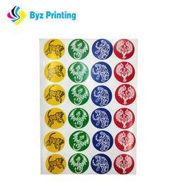Custom round sticker paper sheet full color labels manufacturer printing