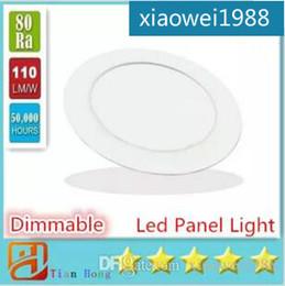 LED Panel Lights Ceiling Round Recessed Lamp Aluminum Ultra Thin Downlights 3W 4W 6W 9W 12W 15W 18W Spotlight Light Fixtures