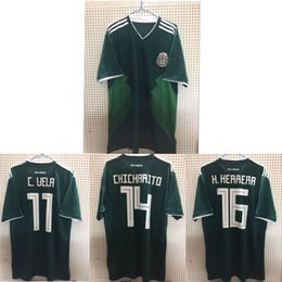 SIZE S-3XL 2018 world cup new Mexico Soccer Jersey CHICHARITO R MARQUEZ HERRERA G DOS SANTOS 2018 world cup new Mexico football shirts