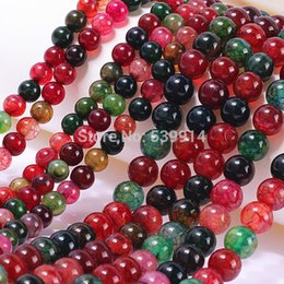 DIY semi-finished products 6mm 8mm 10mm Multicolor Tourmaline Gem Round Loose Bead 15inch