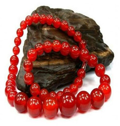 Natural Red Agate Tower Chain Beaded Natural Agate Necklace Crystal Chalcedony Tower Necklace