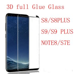 3D Full Glue adhensive Case Friendly Tempered Glass Phone Screen Protector For Samsung Galaxy S9 S9 Plus S8 Plus Note8 S7edge Note 8