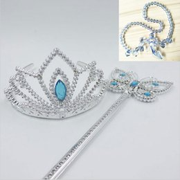 PrettyBaby girls cinderella accessories crown magic wand necklace baby girls xmas sets rhinestones crown butterfly wand high heels necklace