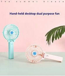 Folding hand-held fan 18650 battery rechargeable portable fan personal home outdoor office hand-held USB mini desktop fan.