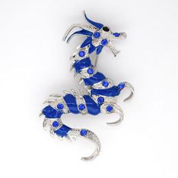 12pcs lot Wholesale Crystal Rhinestone Enameling Dragon Costume Pin Brooch Fashion Brooch jewelry gift C366