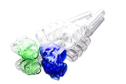 Colorful helix skull glass pipes Curved Glass Oil Burners Pipes Balancer Water Pipe smoking pipes hookahs bongs Color random