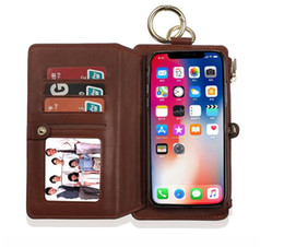 New For IphoneX Mobile Phone Set Multi-Function Mobile Phone Case Zipper Wallet Mobile Phone Protection Leather Cover Two In One