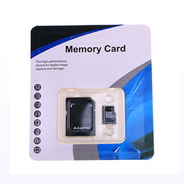 2019 Hot White & Blue Generic 80MB S 90MB S 32GB 64GB 128GB 256GB C10 TF Flash Memory Card Class 10 Free SD Adapter Retail Blister Package