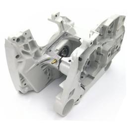 Crankcase Crank Case Engine Housing W Chain Tensioner Adjuster For STIHL MS440 044 Chainsaw Parts 1128 020 2136, 1128 020 2122