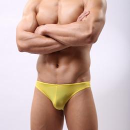 2018 Soutong Ice Silk Men Underwear Briefs Sexy Solid Men Briefs Shorts Cueca Underpants Calzoncillos Hombre