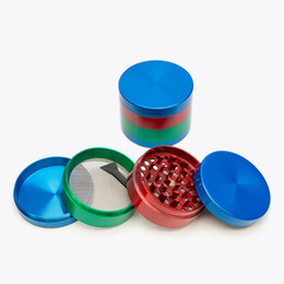New Herb grinder metal 55mm 4 layers Colorful Zicn alloy grinder metal grinders for somking grinders for dry herb vaporizer pen vaporizer