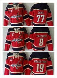 Washington Capitals Hockey Men Jerseys 8 Alexander Ovechkin 19 nicklas backstrom 77 Oshie Hockey Hoodie Hooded Sweatshirt Jackets Jersey