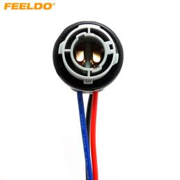 FEELDO 10PCS Car 1157 BAY15D LED Bulbs Brake Signal Lights Socket Harness Plugs #3819