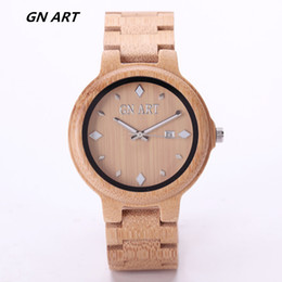 GNART WoodWatch Men Luxury Brand Sandal Wooden Mens Quartz Watches Fashion Natural RundeVintage