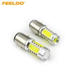 FEELDO 2PCS Super Bright Car Auto 1157 BAY15D 1.5Wx4 330~380lm High Power LED Light Bulb #3457