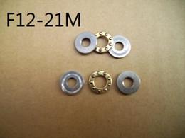 100pcs F12-21M Axial Ball Thrust Bearings 12*21*5 miniature Plane thrust ball bearing 12x21x5 mm