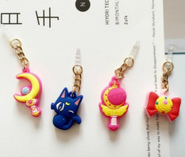 Hot Sell Valuable Cute Sailor Moon Phone Anti Dust Plug Cell Phone Accessories For Iphone4 5 6 3.5mm Earphone Jack Plug free shipping