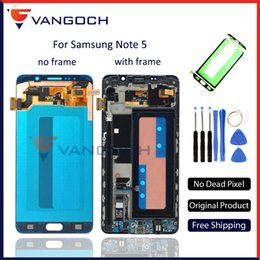 Original For Samsung Galaxy Note 5 N9200 N920T N920P LCD Display Touch Screen With Frame Digitizer Assembly replacement by DHL
