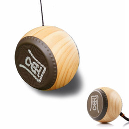 Mini Bluetooth Speaker Luxury Portable Wireless Drum Style Wood Grain Boombox Subwoofer, Hands-free Speakers Stereo Music Box Chinese Style