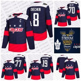 2018 Stadium Series Hockey Jerseys Mens AD New Washington Capitals Alex Ovechkin 70 Braden Holtby 77 T.J. Oshie 19 Nicklas Backstrom Jersey