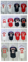 Men's #27 Mike Trout jersey 34 Bryce Harper 7 Trea Turner 11 Ryan Zimmerman Stitched Men Baseball Jerseys