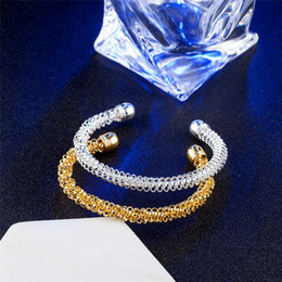 Wholesale 925 Sterling Silver Jewelry Chains Silver Cuff Bangles Bracelets For Men Women Lover Birthday Gift