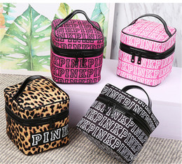 PINK Style Cute Women's Lady Travel Makeup Bags Cosmetic Stuff Sacks Pouch Handbag Hanging Toiletries Travel Kit Bag