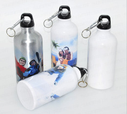 500ml white   silver Blank water bottle Sublimation heat press sports bottle custom your design by sublimation machine 50pieces pack