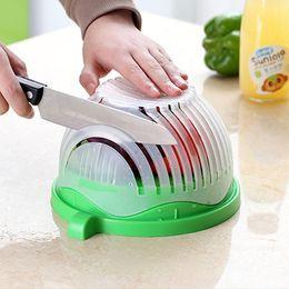 60 second salad cutter bowl fruit vegetable washer easy salad maker chopper kitchen gadget salad tools