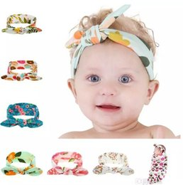 Baby Headbands Flower Hairbands Kids Bunny Ear Cotton Hairband Girls Turban Knot Floral Print Headband Headwear Hair Accessories KHA39