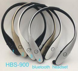 hot HBS-900 HBS900 Headphone Wireless Bluetooth Headset Bluetooth 4.0 Stereo Sport Earphones Handsfree neckband For LG iphone Sumsung