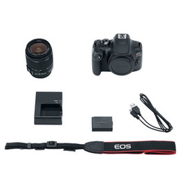 Rebel T6 Digital SLR Camera with 18-55mm EF-S f+ 58mm Wide Angle Lens + 2x Telephoto Lens + Flash + 48GB SD