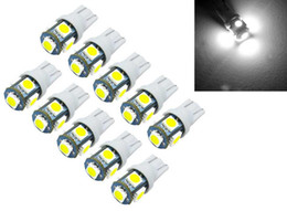 10Pcs T10 12V Led W5W 194 6000K Cars From Canbus 5050 Light-Emitting Diodes Independent 5 Led Bulb No Errors Univ Auto Lamp