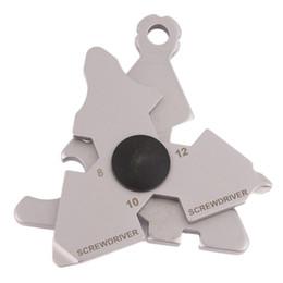 Outdoor Portable EDC Multifunctional Tool Card Screwdriver Hook Bottle Opener Key Buckle