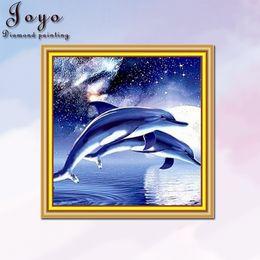 Joyo, New Design DIY Resin Diamondpainting Paint Cross Stitch, Dolphin, Home Decoration, Room Decoration, Perfect Design, Beautiful Gift