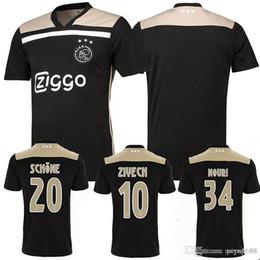 82e8ef3fc ZIYECH Thai Quality New 2018 19 Ajax FC Away Black Gold Soccer Jersey  KLAASSEN DOLBERG MELIK DIJKS EL GHAZI mens Football uniforms shirt