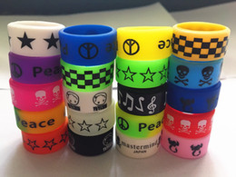 free to custom vape bands wide 12mm Colorful logo Vape bands Silicone Rings for e cigarette mod sub ohm tank