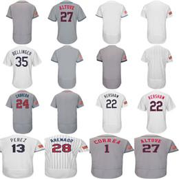2018 Stars & Stripes Baltimore Chicago White Cody Bellinger Clayton Kershaw Salvador Perez Arenado Cabrera 27 Altuve Correa Baseball Jersey